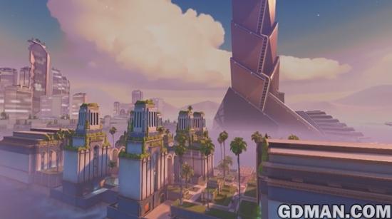 """《守望先锋》新地图""""绿洲城""""上线 实战视频出炉-图7.jpg"""