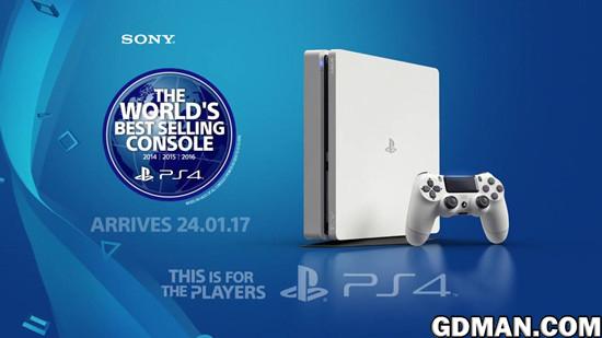 PS4 Slim冰川白配色发售日公布