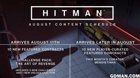 """《杀手6》公布八月新挑战包""""复仇的艺术"""""""