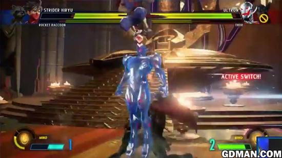 《漫画英雄VS卡普空:无限》实机连招演示